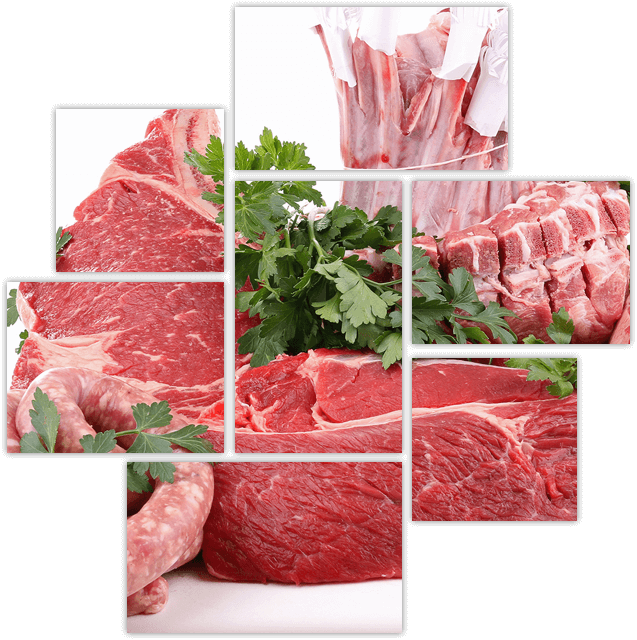Various cuts of meat